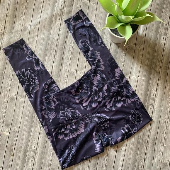 Beyond Yoga Pants - Beyond Yoga high waisted Midi Floral legging